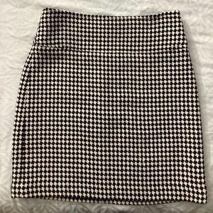 Talbots Houndstooth Skirt